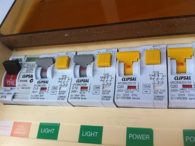 on fuse box switch keeps tripping