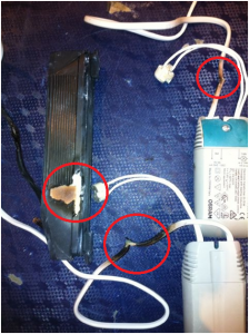 Burnt Electrical Cable & Transformer