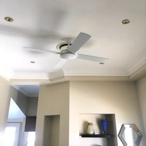 White Ceiling Fan No Light Bedroom