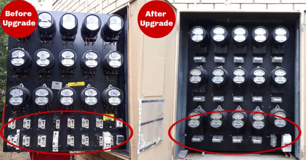 Switchboard upgrade Taringa before and after